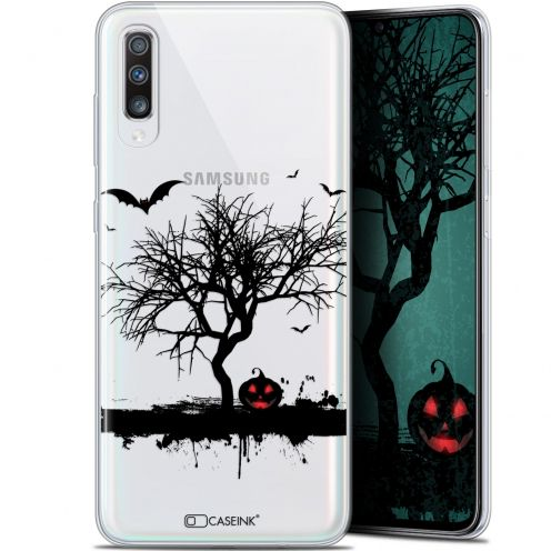 "Carcasa Gel Extra Fina Samsung Galaxy A70 (6.7"") Halloween Devil's Tree"