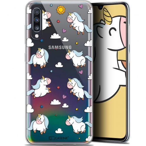 "Carcasa Gel Extra Fina Samsung Galaxy A70 (6.7"") Fantasia Licorne In the Sky"