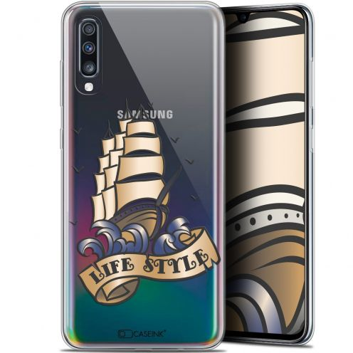 "Carcasa Gel Extra Fina Samsung Galaxy A70 (6.7"") Tatoo Lover Fashion"