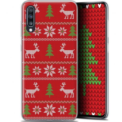 "Carcasa Gel Extra Fina Samsung Galaxy A70 (6.7"") Noël 2017 Couture Rouge"