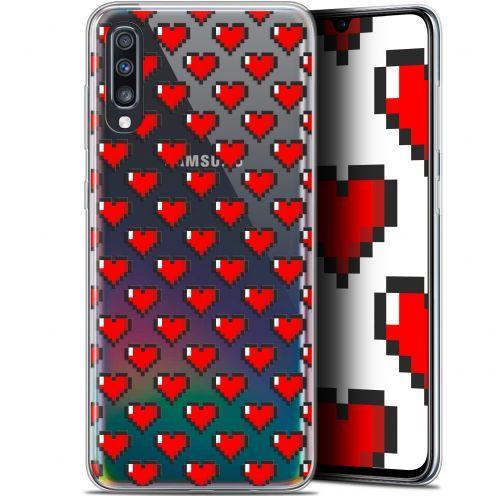"""Carcasa Gel Extra Fina Samsung Galaxy A70 (6.7"""") Love Pixel Art"""