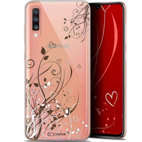 "Carcasa Gel Extra Fina Samsung Galaxy A70 (6.7"") Love Hearts Flowers"