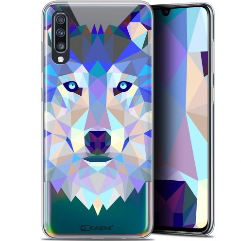 "Carcasa Gel Extra Fina Samsung Galaxy A70 (6.7"") Polygon Animals Lobo"