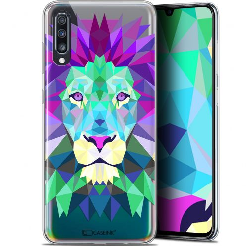 "Carcasa Gel Extra Fina Samsung Galaxy A70 (6.7"") Polygon Animals León"