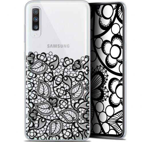 """Carcasa Gel Extra Fina Samsung Galaxy A70 (6.7"""") Spring Bas dentelle Noir"""