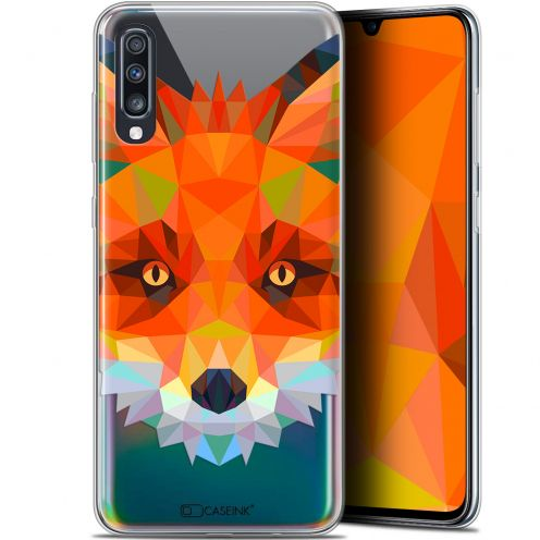 "Carcasa Gel Extra Fina Samsung Galaxy A70 (6.7"") Polygon Animals Zorro"