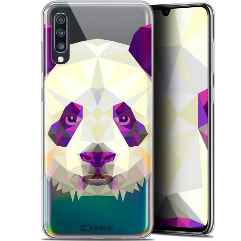 "Carcasa Gel Extra Fina Samsung Galaxy A70 (6.7"") Polygon Animals Panda"