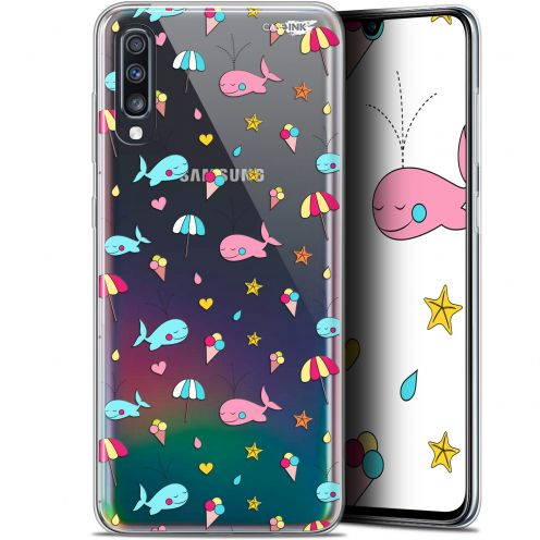 "Carcasa Gel Extra Fina Samsung Galaxy A70 (6.7"") Design Baleine à la Plage"