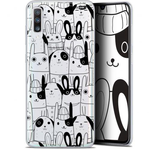 """Carcasa Gel Extra Fina Samsung Galaxy A70 (6.7"""") Design Lapin Noir"""