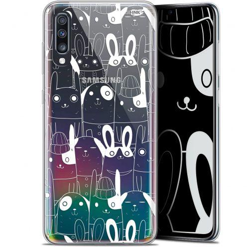 "Carcasa Gel Extra Fina Samsung Galaxy A70 (6.7"") Design Lapin Blanc"