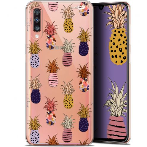 "Carcasa Gel Extra Fina Samsung Galaxy A70 (6.7"") Design Ananas Gold"