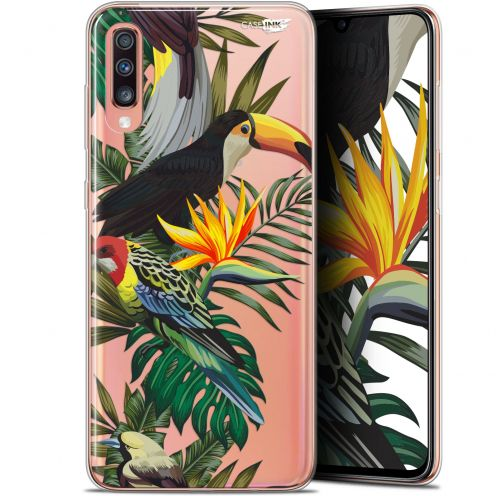 "Carcasa Gel Extra Fina Samsung Galaxy A70 (6.7"") Design Toucan Tropical"