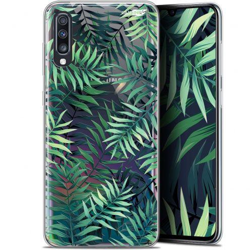 """Carcasa Gel Extra Fina Samsung Galaxy A70 (6.7"""") Design Feuilles des Tropiques"""