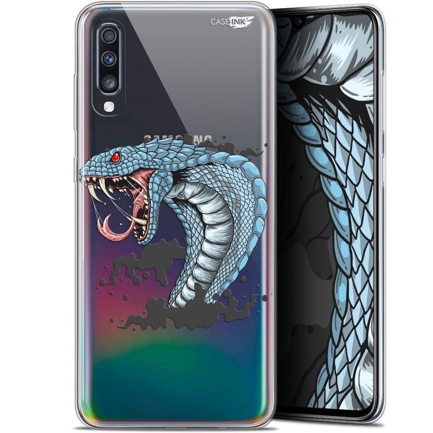 "Carcasa Gel Extra Fina Samsung Galaxy A70 (6.7"") Design Cobra Draw"