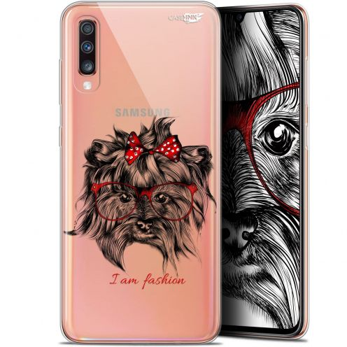 "Carcasa Gel Extra Fina Samsung Galaxy A70 (6.7"") Design Fashion Dog"