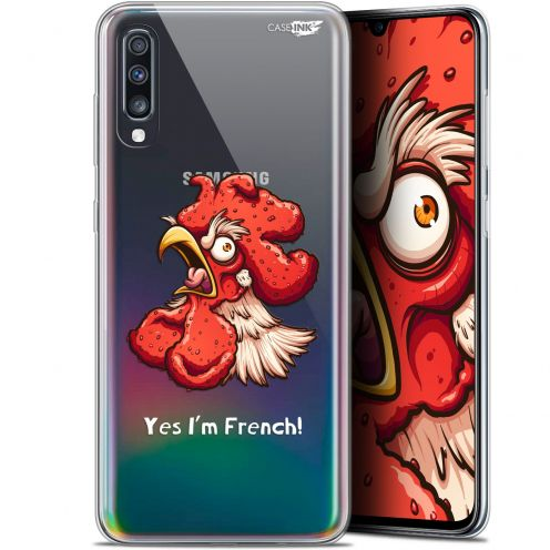 "Carcasa Gel Extra Fina Samsung Galaxy A70 (6.7"") Design I'm French Coq"