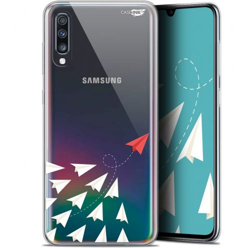 "Carcasa Gel Extra Fina Samsung Galaxy A70 (6.7"") Design Papier Volant"