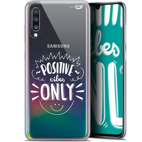 "Carcasa Gel Extra Fina Samsung Galaxy A70 (6.7"") Design Positive Vibes Only"