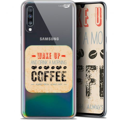 "Carcasa Gel Extra Fina Samsung Galaxy A70 (6.7"") Design Wake Up With Coffee"