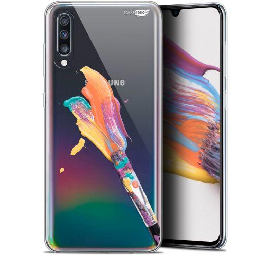 "Carcasa Gel Extra Fina Samsung Galaxy A70 (6.7"") Design Pinceau de Peinture"