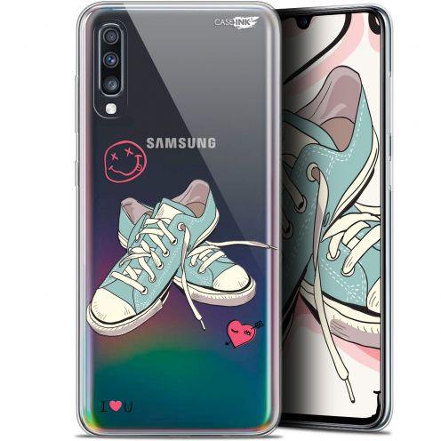 "Carcasa Gel Extra Fina Samsung Galaxy A70 (6.7"") Design Mes Sneakers d'Amour"