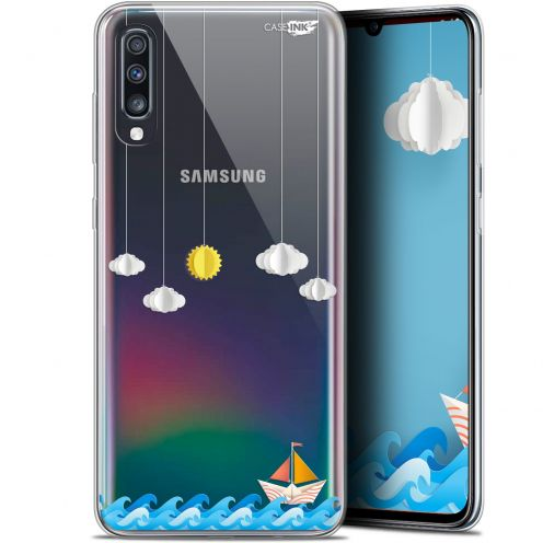 "Carcasa Gel Extra Fina Samsung Galaxy A70 (6.7"") Design Petit Bateau en Mer"