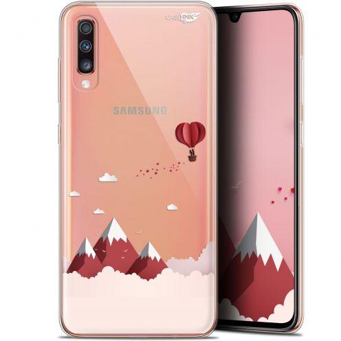 "Carcasa Gel Extra Fina Samsung Galaxy A70 (6.7"") Design Montagne En Montgolfière"
