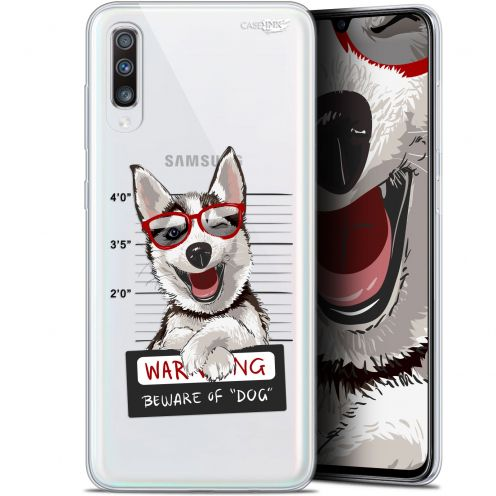 "Carcasa Gel Extra Fina Samsung Galaxy A70 (6.7"") Design Beware The Husky Dog"