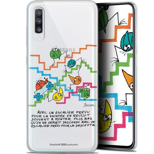 "Carcasa Gel Extra Fina Samsung Galaxy A70 (6.7"") Les Shadoks® L'escalier"