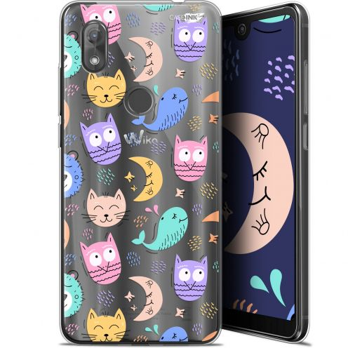 "Carcasa Gel Extra Fina Wiko View 2 (6"") Design Chat Hibou"