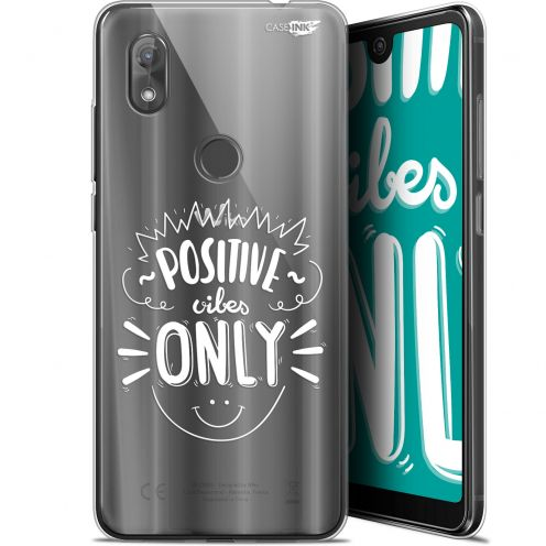 "Carcasa Gel Extra Fina Wiko View 2 (6"") Design Positive Vibes Only"