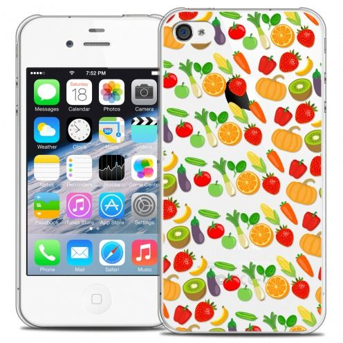 Carcasa Crystal Extra Fina iPhone 4/4s Foodie Healthy