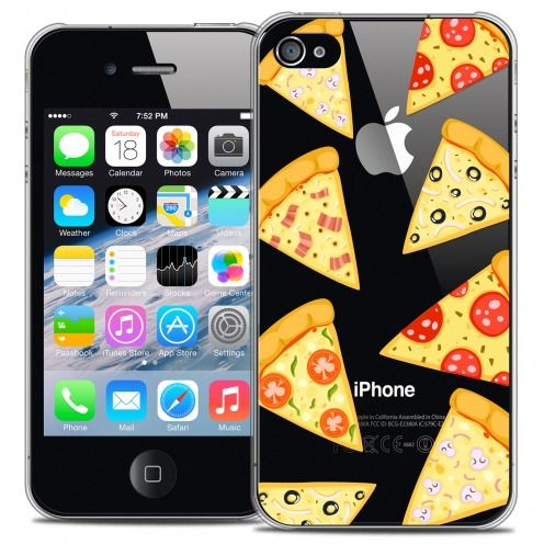 Carcasa Crystal Extra Fina iPhone 4/4s Foodie Pizza