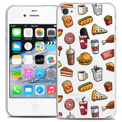 Carcasa Crystal Extra Fina iPhone 4/4s Foodie Fast Food