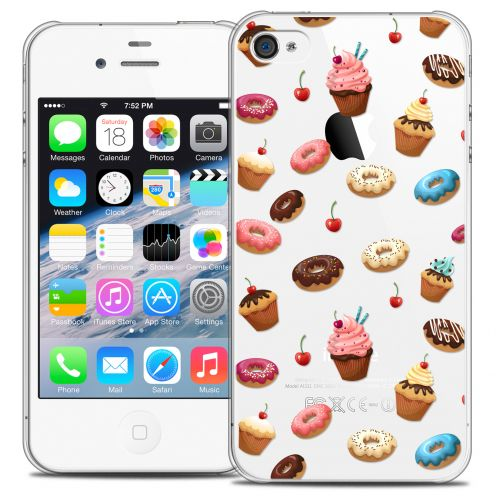 Carcasa Crystal Extra Fina iPhone 4/4s Foodie Donuts