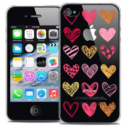 Carcasa Crystal Extra Fina iPhone 4/4s Sweetie Doodling Hearts