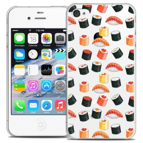 Carcasa Crystal Extra Fina iPhone 4/4s Foodie Sushi