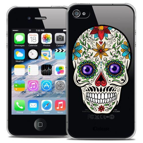 Carcasa Crystal Extra Fina iPhone 4/4s Skull Maria's Flower