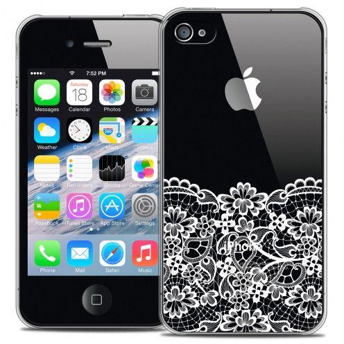 Carcasa Crystal Extra Fina iPhone 4/4s Spring Bas dentelle