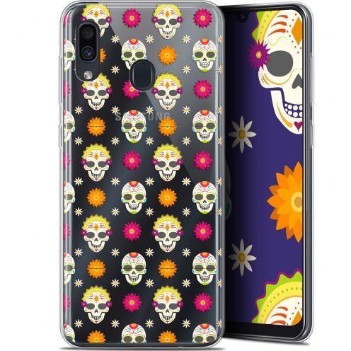 """Carcasa Gel Extra Fina Samsung Galaxy A30 (6.4"""") Halloween Skull Halloween"""