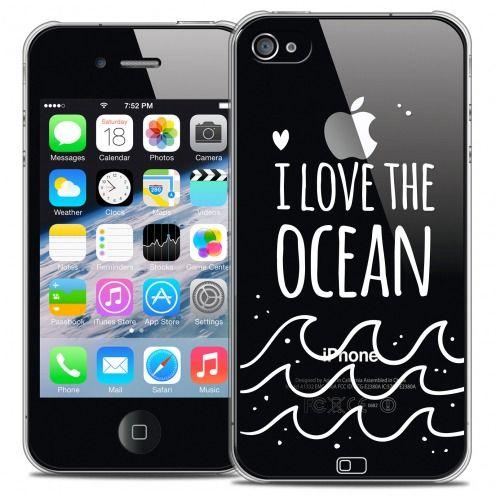 Carcasa Crystal Extra Fina iPhone 4/4s Summer I Love Ocean