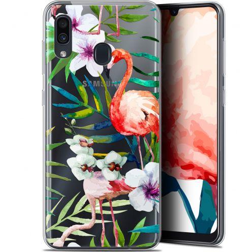 "Carcasa Gel Extra Fina Samsung Galaxy A30 (6.4"") Watercolor Tropical Flamingo"
