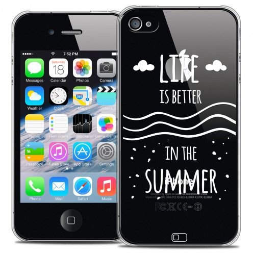 Carcasa Crystal Extra Fina iPhone 4/4s Summer Life's Better