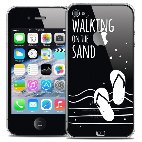 Carcasa Crystal Extra Fina iPhone 4/4s Summer Walking on the Sand