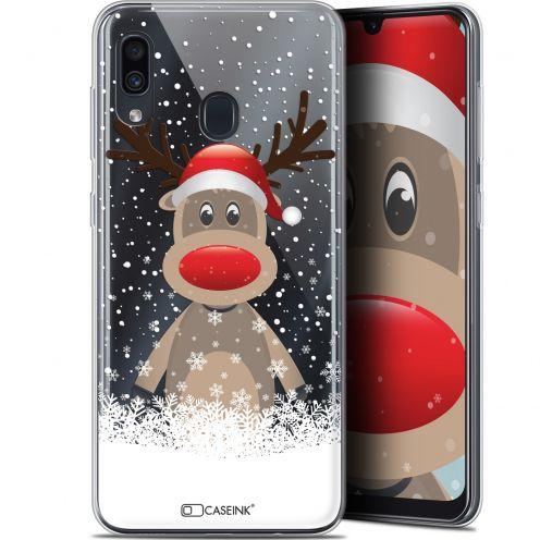 """Carcasa Gel Extra Fina Samsung Galaxy A30 (6.4"""") Noël 2017 Cerf au Bonnet"""