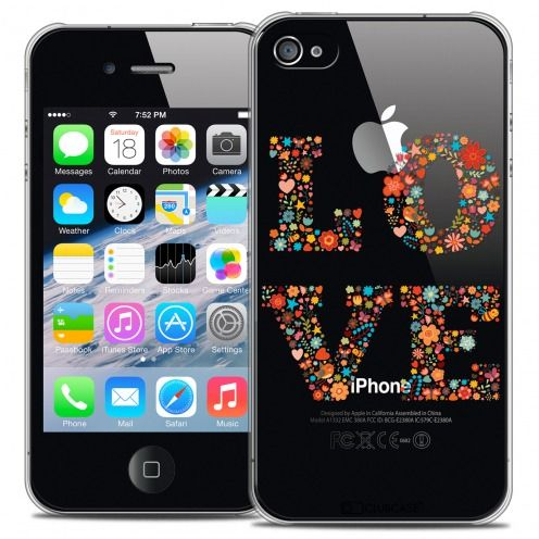 Carcasa Crystal Extra Fina iPhone 4/4s Summer Love Flowers