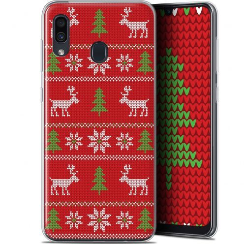 "Carcasa Gel Extra Fina Samsung Galaxy A30 (6.4"") Noël 2017 Couture Rouge"