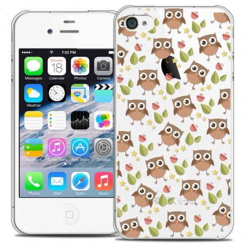 Carcasa Crystal Extra Fina iPhone 4/4s Summer Hibou