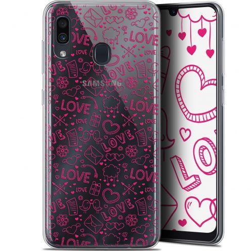 "Carcasa Gel Extra Fina Samsung Galaxy A30 (6.4"") Love Doodle"