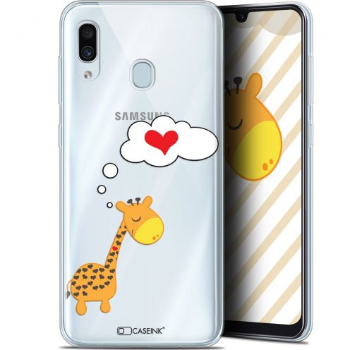 "Carcasa Gel Extra Fina Samsung Galaxy A30 (6.4"") Love Girafe Amoureuse"